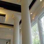 Установка колонн из гипса фото